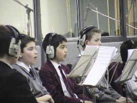 Choraufnahmen zu Finding Neverland